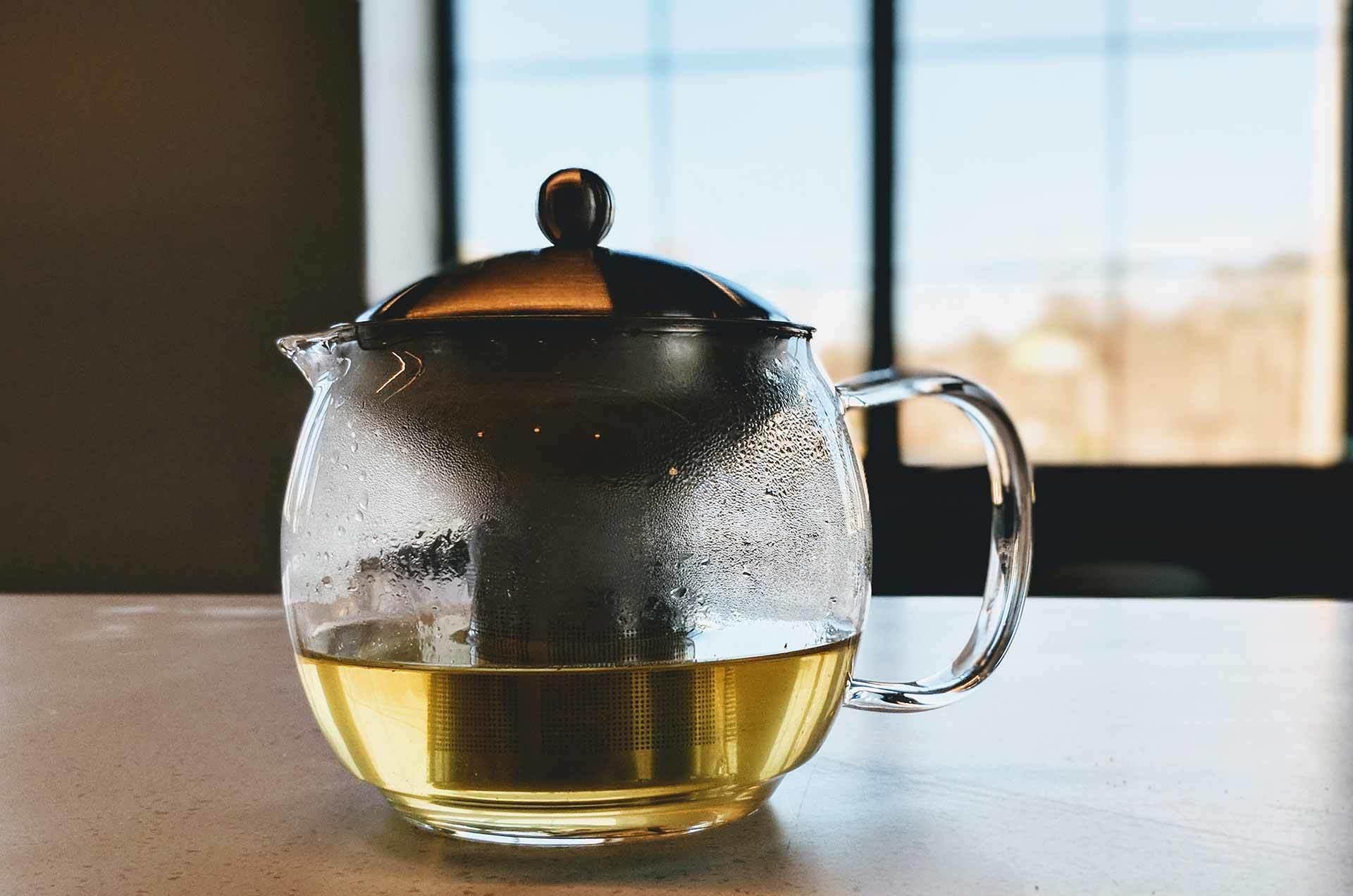 tè bianco in caraffa